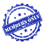 Members only stamp vector Stock Photo