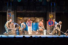 Members of the STOMP perform on stage. At Budapest Royalty Free Stock Image