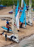 Tynemouth Sailing Club Members. Royalty Free Stock Photography