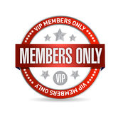 Members only. VIP seal illustration design Royalty Free Stock Images