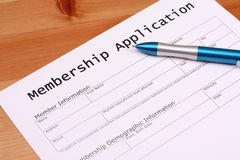 Membership Application Stock Image