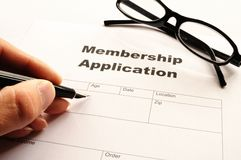 Membership application Royalty Free Stock Photography