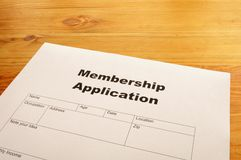 Membership application Stock Photography