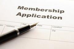Membership application Royalty Free Stock Image