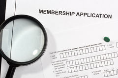 Membership Application Royalty Free Stock Images