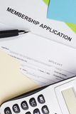 Membership Application Royalty Free Stock Image