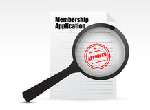 Membership application accepted Royalty Free Stock Images