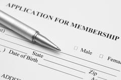 Membership Application Royalty Free Stock Photos