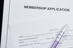 Membership Application Royalty Free Stock Photo