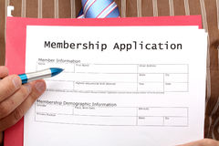 Membership Application Form Stock Photography