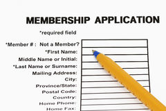 Membership application form Royalty Free Stock Images