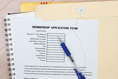 Membership application form Royalty Free Stock Photos