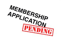Membership Application Pending stock photo