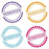 Membership badge isolated on white background. Royalty Free Stock Photography