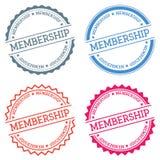 Membership badge isolated on white background. Royalty Free Stock Images