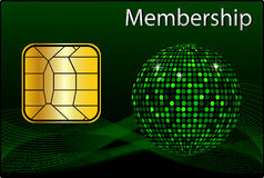 Membership Card Stock Image