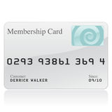 Membership Card Icon. A glossy icon of a membership card stock illustration