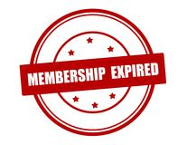 Membership expired. Rubber stamp with text membership expired inside, vector illustration Stock Images
