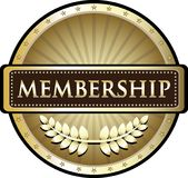 Membership Gold Label. With a laurel and stars stock illustration