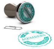 Membership, Members Only. Rubber stamp image with the text members only printed on a white background. Communication concept for Illustration of membership Royalty Free Stock Photos