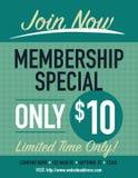 Membership poster Stock Image