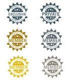 Membership Stamps Set. Vector on white background stock illustration