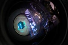 Membran einer Kameraobjektivöffnung Lizenzfreie Stockfotografie