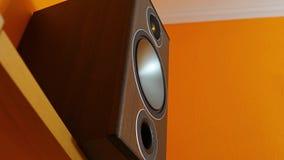 Membrana de alta fidelidad del loudpeaker almacen de video