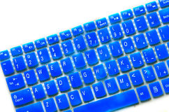 Membrane keyboard. Blue Membrane keyboard on white background Royalty Free Stock Images