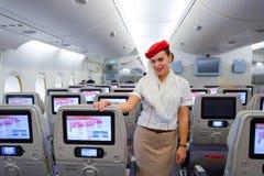 Membre d'équipage d'Airbus A380 d'émirats Image libre de droits