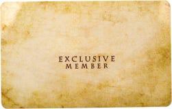 Membre exclusif photographie stock libre de droits