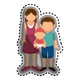 Membres de la famille heureux avec le bébé Photographie stock libre de droits