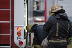 Membres des sapeurs-pompiers photos stock