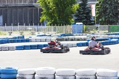 Membres du club de Karting images libres de droits