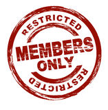 Membres seulement Photo stock