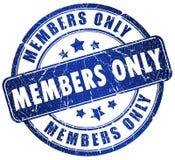 Membres seulement Images stock