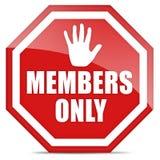 Membres seulement illustration libre de droits