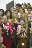 Membres tribals de Powhatan Images stock