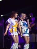 Membri del ABBA che l'esposizione effettua Immagini Stock Libere da Diritti