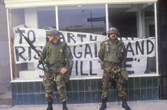 Membri della guardia nazionali muniti Fotografia Stock