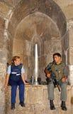Membri della polizia dell'esercito israeliano nella vecchia città di Gerusalemme, Fotografia Stock Libera da Diritti