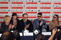 Membri principali della giuria della concorrenza del festival cinematografico dell'internazionale di Mosca Fotografie Stock Libere da Diritti