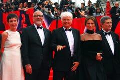 Membri principali della giuria della concorrenza del festival cinematografico di Mosca fotografie stock