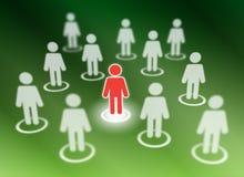Membri sociali della rete royalty illustrazione gratis