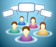 Membri sociali della rete con le nubi del testo royalty illustrazione gratis