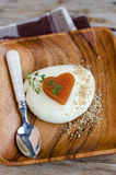 Membrillo Marmelade y queso de la mozzarella Imagen de archivo