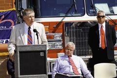 Membro del Congresso Kissel che parla alla cerimonia 9 11 Immagine Stock
