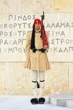 Membro della guardia vicino al Parlamento Fotografie Stock
