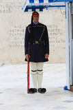 Membro della guardia vicino al Parlamento a Atene, Grecia Fotografia Stock
