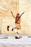 Membro della guardia vicino al Parlamento a Atene, Grecia Fotografie Stock